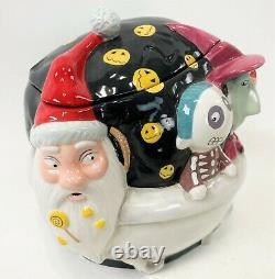 10 Disney Touchstone NIGHTMARE BEFORE CHRISTMAS LOCK SHOCK SANTA COOKIE JAR
