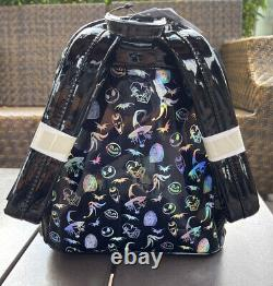 2021 Disney Parks Nightmare Before Christmas Holographic Loungefly Mini Backpack