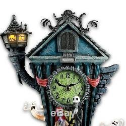 Bradford Exchange Disney The Nightmare Before Christmas Cuckoo Wall Clock Burton