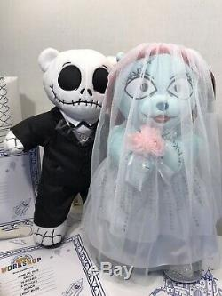Build-A-Bear Nightmare Before Christmas Jack Skellington and Sally NWT/Sound