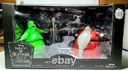 DISNEY NIGHTMARE BEFORE CHRISTMAS Oogie's Lair Action Figure Lighted Box Set NEW