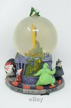 DISNEY NIGHTMARE BEFORE CHRISTMAS SNOWGLOBE LIGHT & MUSIC This Is Halloween RARE