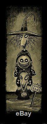 DISNEY Nightmare Before Christmas & Haunted Mansion FRAMED Art Lot of 4 NIB RARE