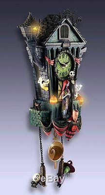 DISNEY Tim Burton NBX NIGHTMARE BEFORE CHRISTMAS Cuckoo Clock NEW