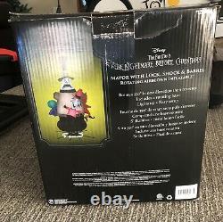 Disney 7.6 ft Nightmare Before Christmas Mayor withLock Shock & Barrel Inflatable
