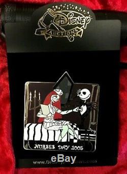 Disney Auctions Nightmare Before Christmas Jack & Sally Nurse's Day Pin