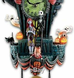Disney Bradford Exchange Nightmare before christmas Tim Burtons Kuckoo clock