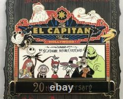 Disney El Capitan Marquee Nightmare Before Christmas 20 Anniversary Jumbo Pin LE
