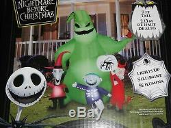 Disney Halloween Oogie Boogie Inflatable 7' Lights Nightmare Before Christmas