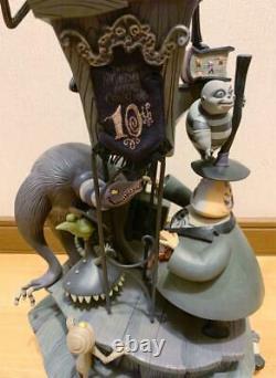 Disney Japan Nightmare Before Christmas 10th Anniv. Snow Globe Music box USED z