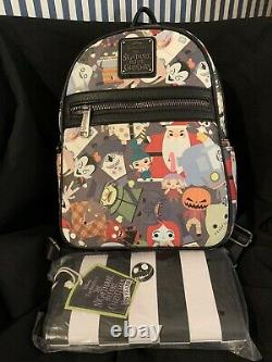Disney Loungefly Nightmare Before Christmas 25th Anv. Mini Backpack & Wallet