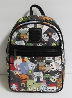 Disney Loungefly Nightmare Before Christmas 25th Faux Leather Mini Bag Backpack