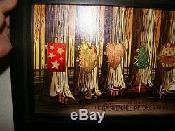 Disney NBC Nightmare Before Christmas Holiday Tree Doors Framed Pin Set ZERO