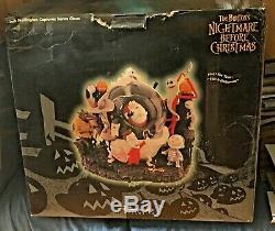 Disney NIGHTMARE BEFORE CHRISTMAS Kidnap Santa Claus SNOWGLOBE 1993 HUGE! Rare
