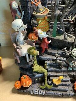 Disney NIGHTMARE BEFORE CHRISTMAS Mantle Clock Detailed Sculpture