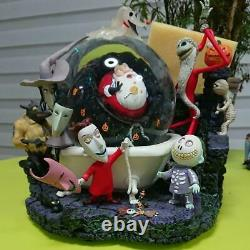 Disney Nightmare Before Christmas Big Snow Globe Light Up Music Box Good Used