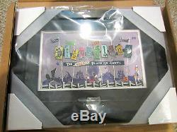 Disney Nightmare Before Christmas Disneyland Letter framed pin set LE 150 signed