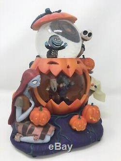 Disney Nightmare Before Christmas Double Snowglobe Pumpkin Halloween Defects