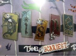 Disney Nightmare Before Christmas Framed Letter Pin Set Le 150