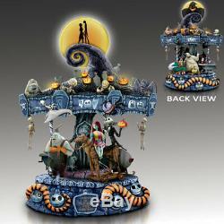 Disney Nightmare Before Christmas Illuminated Carousel Bradford Exchange Musical