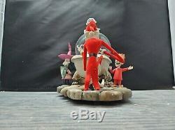 Disney Nightmare Before Christmas Jack Captures Santa in Bathtub Snow Globe