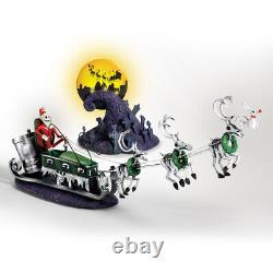 Disney Nightmare Before Christmas Jack Sally Sculpture Set Sleigh Figurine