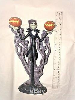 Disney Nightmare Before Christmas Jack Skellington 3 Candle sticks Holder Rare