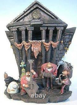 Disney Nightmare Before Christmas Light up Townhall statue Halloween village