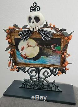 Disney Nightmare Before Christmas Santa Jack Lenticular Haunted Mansion Frame