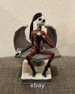Disney Nightmare Before Christmas Santa Jack Skellington Angel Statue Ornament