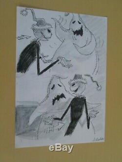 Disney Nightmare Before Christmas Tim Burton cel Storyboard Drawing 1993