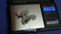 Disney Nightmare Before Christmas Zero Swarovski Pin Rare TouchStone-Vintage New