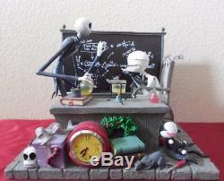 Disney Nightmare before Christmas Jack Skellington desk clock statue HEAVY RARE