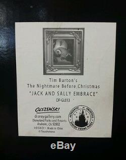Disney Olszewski Gallery of Light Nightmare Before Christmas Jack &Sally Embrace