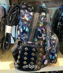 Disney Parks Nightmare Before Christmas Holographic Loungefly Mini Backpack NEW