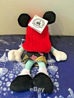 Disney Parks Nightmare Before Christmas Mickey & Minnnie Mouse Plushes Bnwts