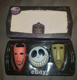 Disney Store Exclusive Nightmare Before Xmas NBC Lock Shock Barrel Mask Set of 3