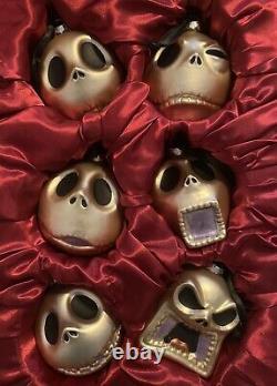 Disney Store The Nightmare Before Christmas Set Of 6 Jack Skellington Ornaments