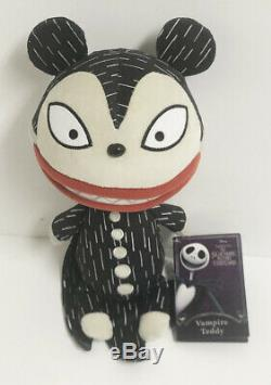Disney Store The Nightmare Before Christmas Vampire Scary Teddy 12 Plush NWT