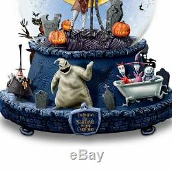 Disney The Nightmare Before Christmas Musical Glitter Globe With Rotating Base