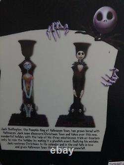 Disney Tim Burtons Nightmare Before Christmas JackSally Candle Holders MINT NIB
