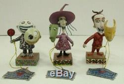 Disney Traditions Lock, Shock & Barrel Figurines Nightmare Before Christmas Rare