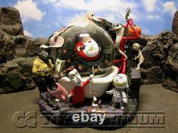 Disney's Nightmare Before Christmas RETIRED Jack Captures Santa Claus Snow Globe
