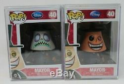 Funko Pop Disney #40 Nightmare Before Christmas Mayor Rare Both With Pop Stacks