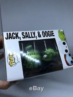 Funko Pop Nightmare Before Christmas Metallic 3-Pack Jack Sally Oogie Boogie D23