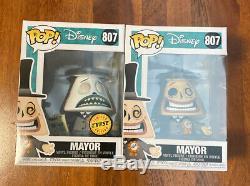 Funko Pop Set Mayor 807 Nightmare Before Christmas Chase & Common Disney New NIB