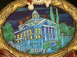 Haunted Mansion Holiday Nightmare Before Christmas Stained Glass 1st Edition LE