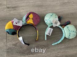 Lot of 2 NWT Disney Parks Minnie Nightmare Before Christmas Sally Ears Headband