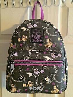 Loungefly Disney Nightmare Before Christmas Mini Backpack Toys Pattern Bag