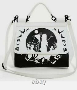 Loungefly Disney Nightmare Before Christmas Silhouette Satchel Purse Bag NEW